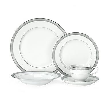 Mikasa Platinum Crown 40-Piece Dinnerware Set, Service for 8