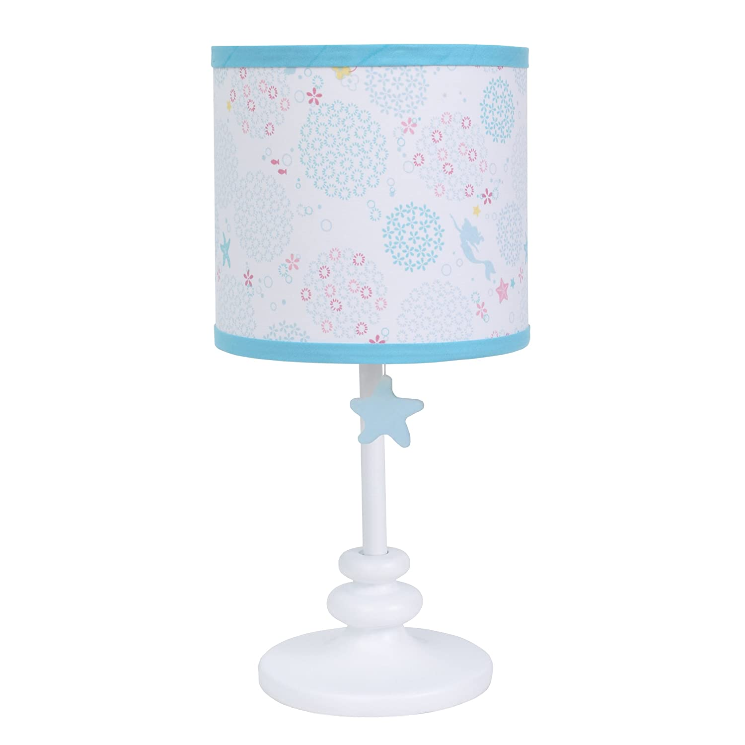 Disney Minnie Mouse Polka Dots Lamp Base and Shade, Light Pink/White/Grey/Bright Raspberry Crown Crafts Inc 6096067
