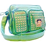 Betty Boop bling POCKETS cross-body messenger bag mint green Rhinestones