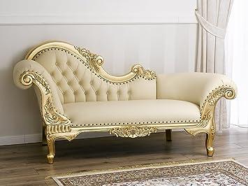 Divano dormeuse chaise longue stile Barocco Francese foglia oro ...