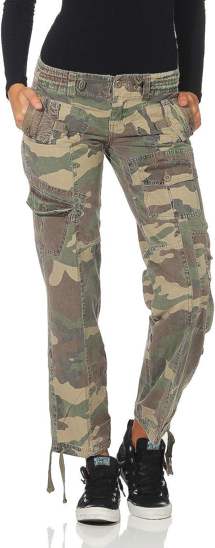 FY Pantalón Mujer Pantalones de Camuflaje Ejército Pantalones ...