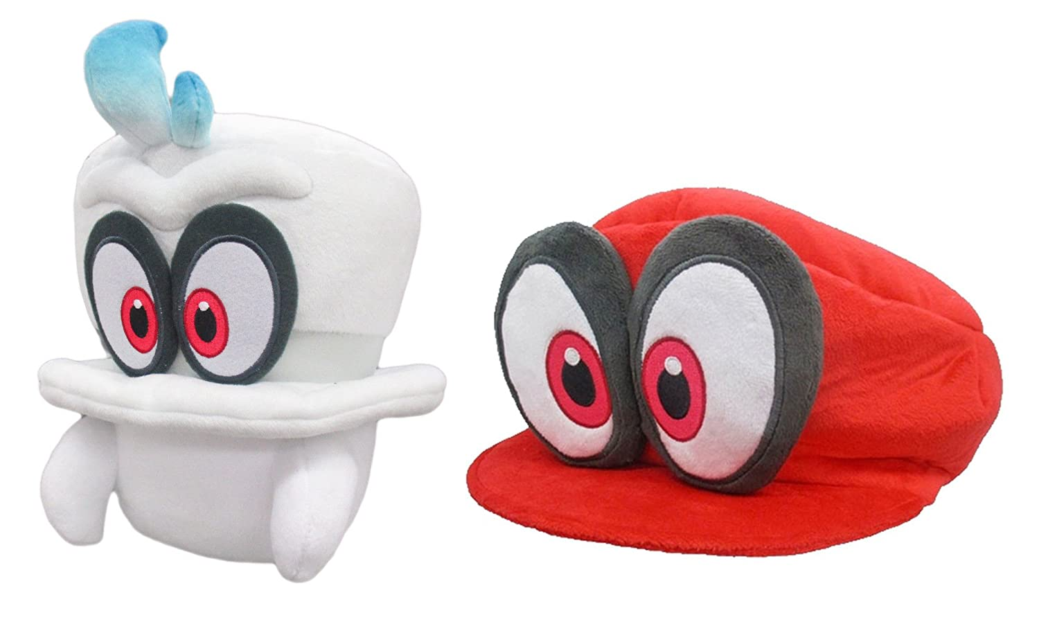 Buy Little Buddy Super Mario Odyssey White Cappy Normal Form Red Cappy Mario S Cap Plush Set Of 2 Online At Low Prices In India Amazon In