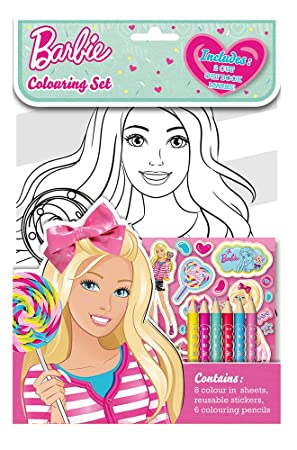 Alligator Books Barbie Colouring Set Amazoncouk Toys Games