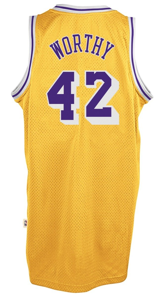 4434e56ace2 Amazon.com : James Worthy Los Angeles Lakers Adidas NBA Throwback Swingman  Jersey - Gold : Sports & Outdoors