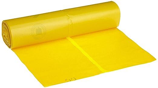 25 x Müllsäcke 120 Liter Gelb mit ZUGBAND Abfallbeutel Müllsack Müllbeutel 949