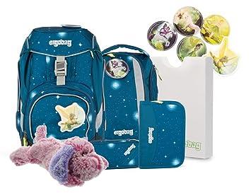 83a46c27f867a ergobag pack-Set Ranzenset 6tlg. ERG-SET-001 SternenwanderBär + Kuschelhund  klein Plüschtier gratis Pink  Amazon.de  Spielzeug