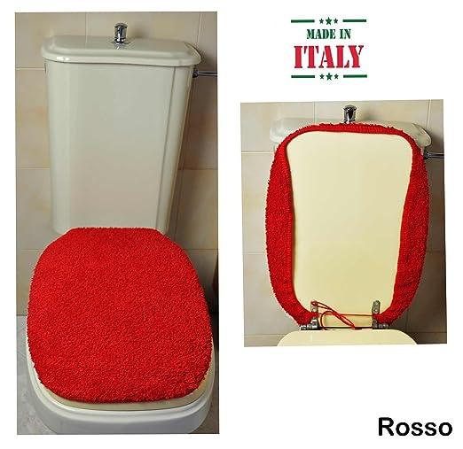 CASA TESSILE Copri ASSE WC Velluto cm 50X45 Bianco