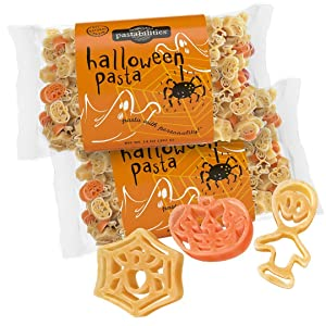 Pastabilities Halloween Pasta, Fun Shaped Pumpkin Spider and Ghost Noodles for Kids and Holidays, Non-GMO Natural Wheat Pasta 14 oz (2 Pack)