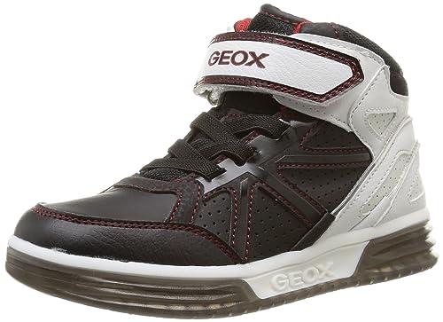 Geox J ARGONAT Boy C, Zapatillas Altas para Niños, Negro-Schwarz (C0127BLACK/WHITE), 38 EU: Amazon.es: Zapatos y complementos