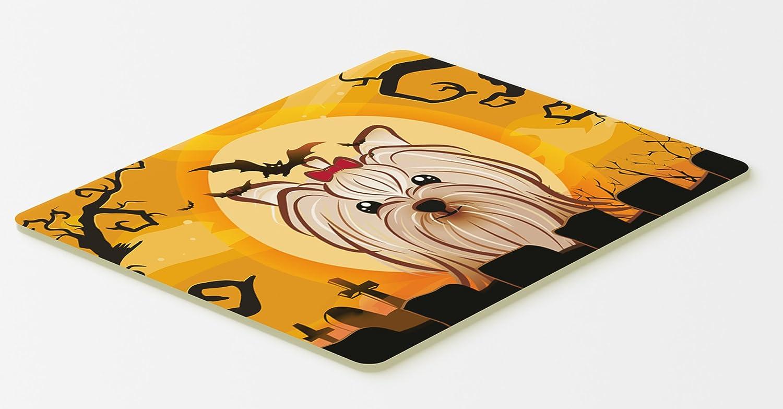 20 by 30 Multicolor Carolines Treasures BB1762CMT Halloween Yorkie Yorkshire Terrier Kitchen or Bath Mat