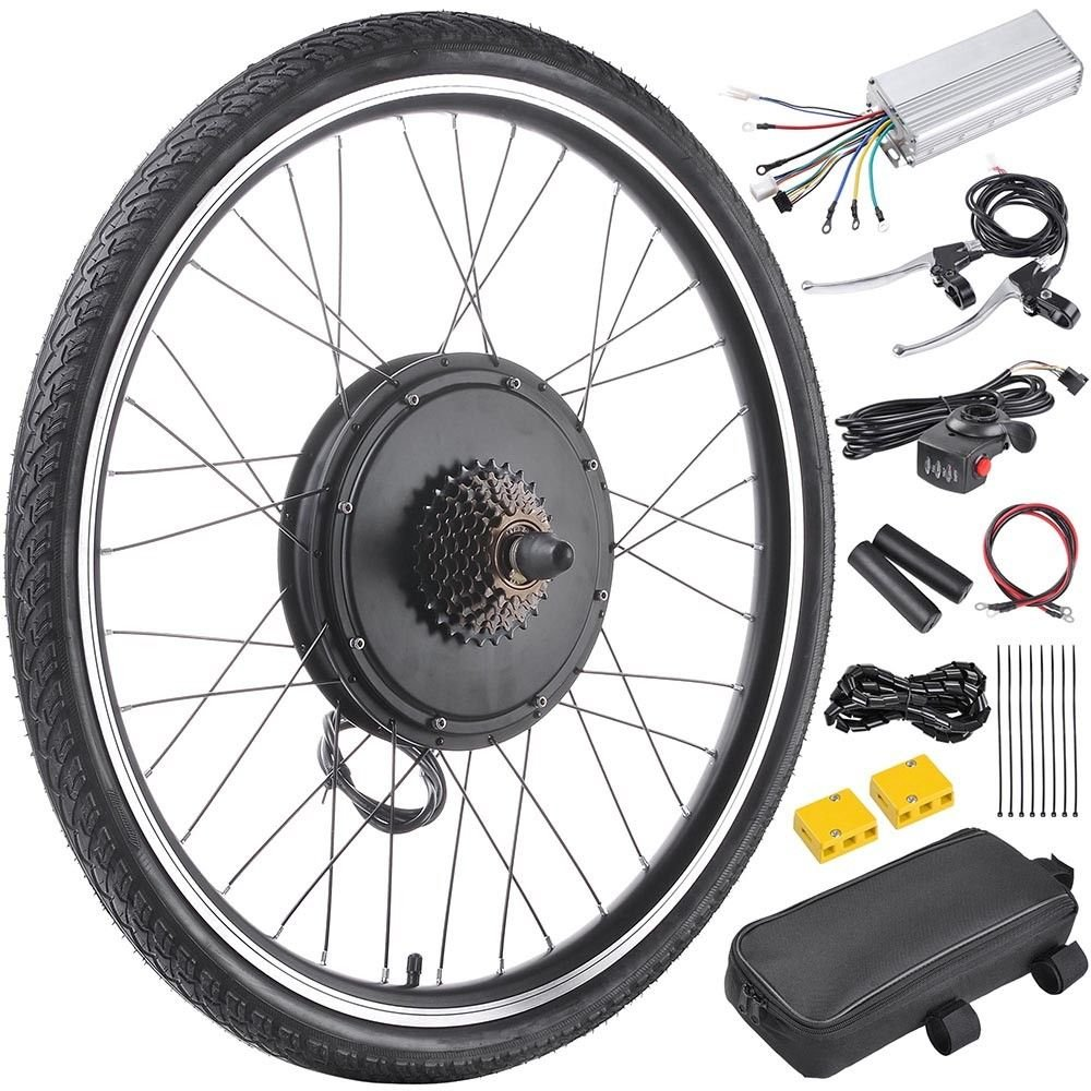 48V1000W 26'' Rear Wheel Electric Bicycle Motor Kit E-Bike Cycling Hub Conversion With Ebook