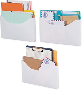 Origami Wall Hanging Magazine File Holder /& Pocket Organizer Recycled Plastic Fr