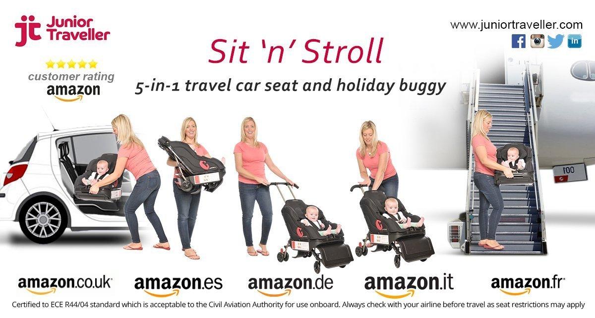 Sit 'N' Stroll 5 in 1 Baby Car Seat & Stroller by Sit N Stroll (Image #8)