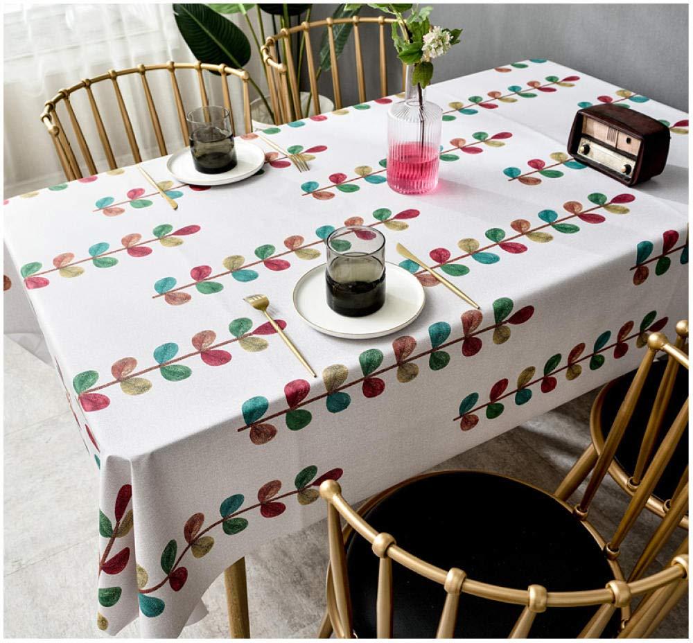 WJJYTX Wachstuch tischdecke, quadratische abwischbare Tischdecke Rechteckige wasserdichte Tischdecke aus Vinyl-PVC für die Gartenküche