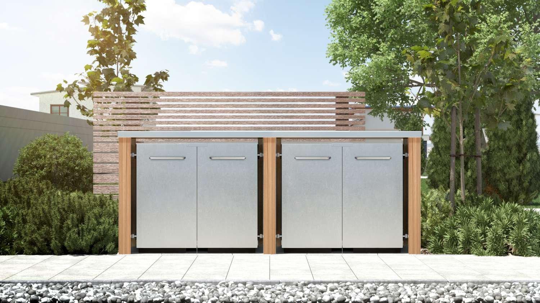 schöner-wohnen24 tejado plano Plan Diseño Alerce Madera 240 l 4 contenedores: Amazon.es: Jardín
