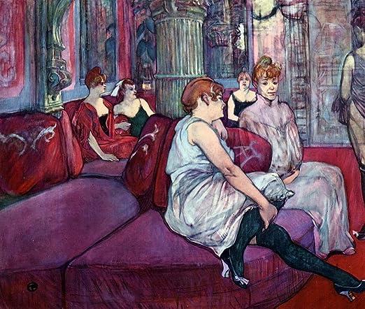 ODSAN The Salon In The Rue Des Moulins - By Henri De ...