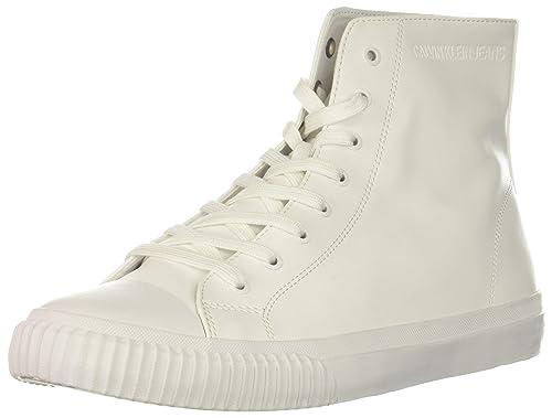 Calvin Klein Jeans Polacchine ICARO Nappa Smooth S1736 Bianco Uomo Casual   Amazon.it  Scarpe e borse 98bf46c67d1