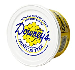 Kauffman's Downey Original Honey Butter, All-natural spread to use as a marinade, or an excellent topping on croissants, ice cream, muffins and baked goods. 8 oz container