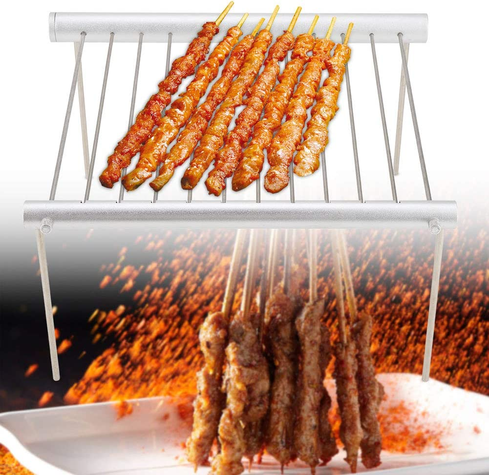 Zerone Grille de Barbecue sur Pied, Support de Barbecue en