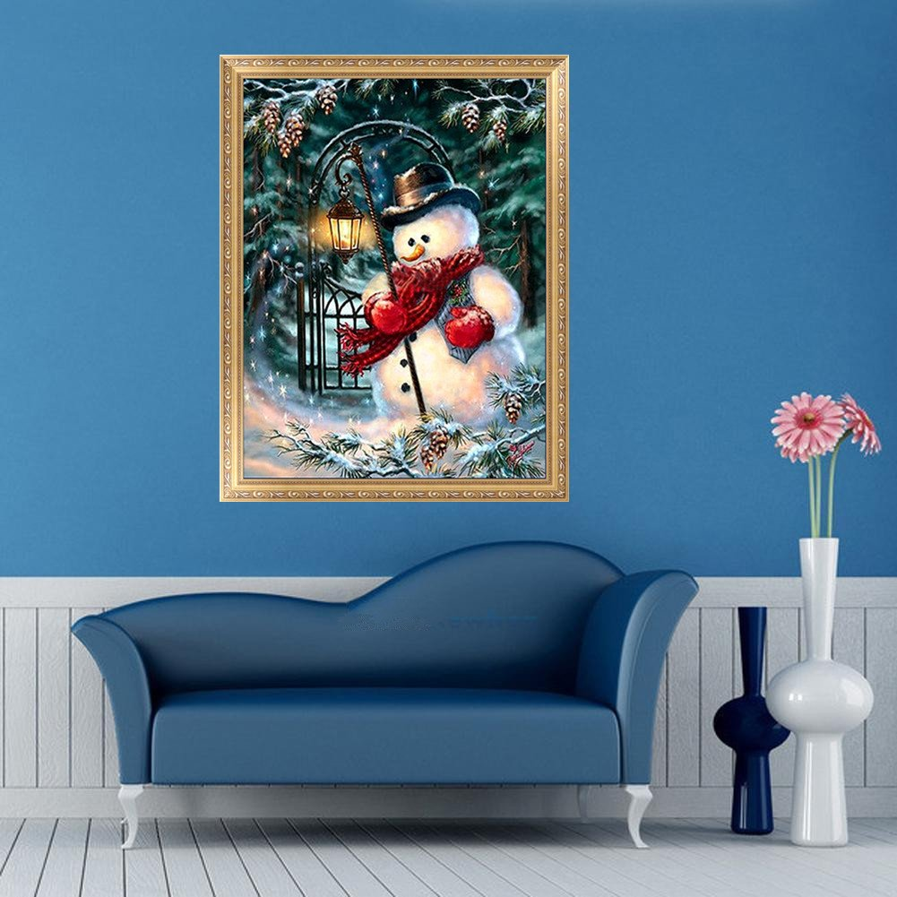 Hoiert 5D Diamond Painting Christmas Halloween Snowman Embroidery DIY Cross Stitch Full Drill Xmas Decor HOT