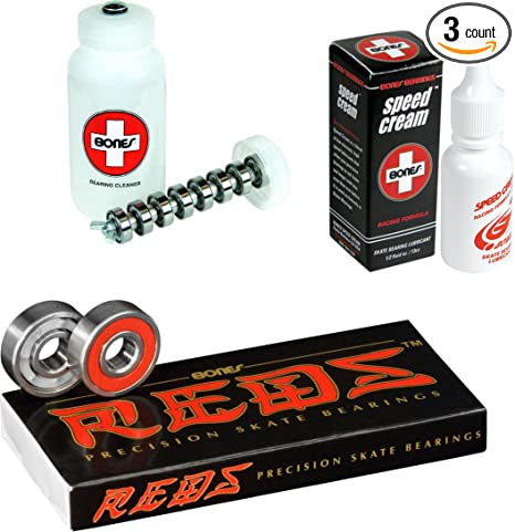 Image Unavailable. Image not available for. Color  Bones Reds Precision Skate  Bearings ... bddc8da9fc3
