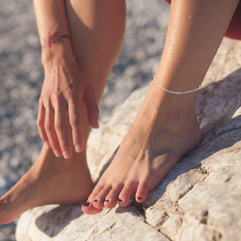Milacolato 12 Pcs R/églables Bracelets De Cheville Anneaux pour Femmes Filles Bande Bout Ouvert Anneau Cheville Bracelets Cha/înes Beach Foot Ensemble De Bijoux