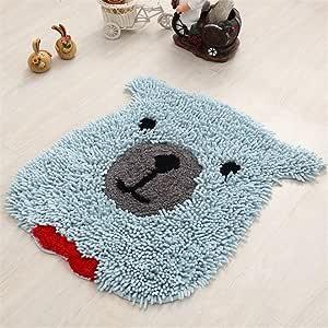 jsj _ CHENG algodón oso patrón Chenile zona de baño Rugs – Alfombra para el baño, dormitorio, para habitación infantil: Amazon.es: Hogar