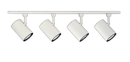 competitive price 2ba5d 22895 NICOR Lighting 4 Ft. 4-Light 75-Watt Linear Track Lighting Kit, White  (10996WH4HEAD)