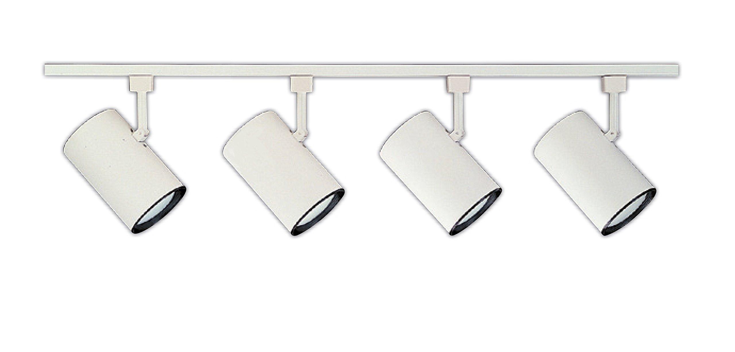 NICOR Lighting 4 Ft.  4-Light 75-Watt Linear Track Lighting Kit, White (10996WH4HEAD)