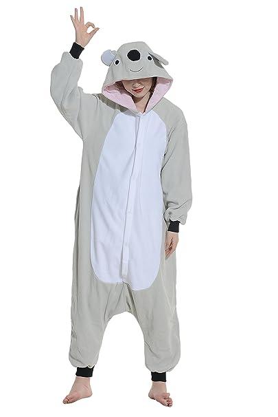 Pijamas Animales Koala Cosplay Enteros Mujer Invierno Novedad Navidad Traje Disfraz