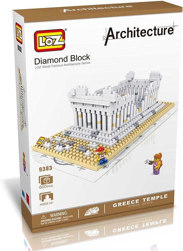 Loz 9383. Kit de construccion miniaturizada. Templo Griego Partenon. 600 piezas: Amazon.es: Juguetes y juegos