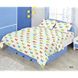 Bombay Dyeing Glow 144 TC Cotton Double Bedsheet with 2 Pillow Covers - Red