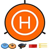 Drone Landing Pad, Universal Waterproof D 75cm/30inch Portable Foldable Landing Pads for RC Drones Helicopter, PVB Drones, DJ