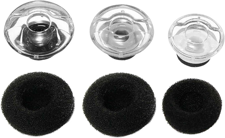 Almohadillas de repuesto originales con fundas de espuma para auriculares Plantronics Voyager Legend con Bluetooth