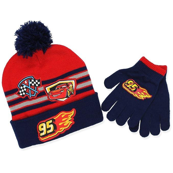 90fe2afda61 Amazon.com  Disney Cars 3 Boys Beanie Hat and Gloves Set (One Size ...