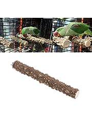 Natrual Wood Perch Stand Toy for Bird Parrot Budgie Parakeet Cockatiel Conure Lovebird Finch Lovebird Macaw African Grey Cockatoo Cage Platform