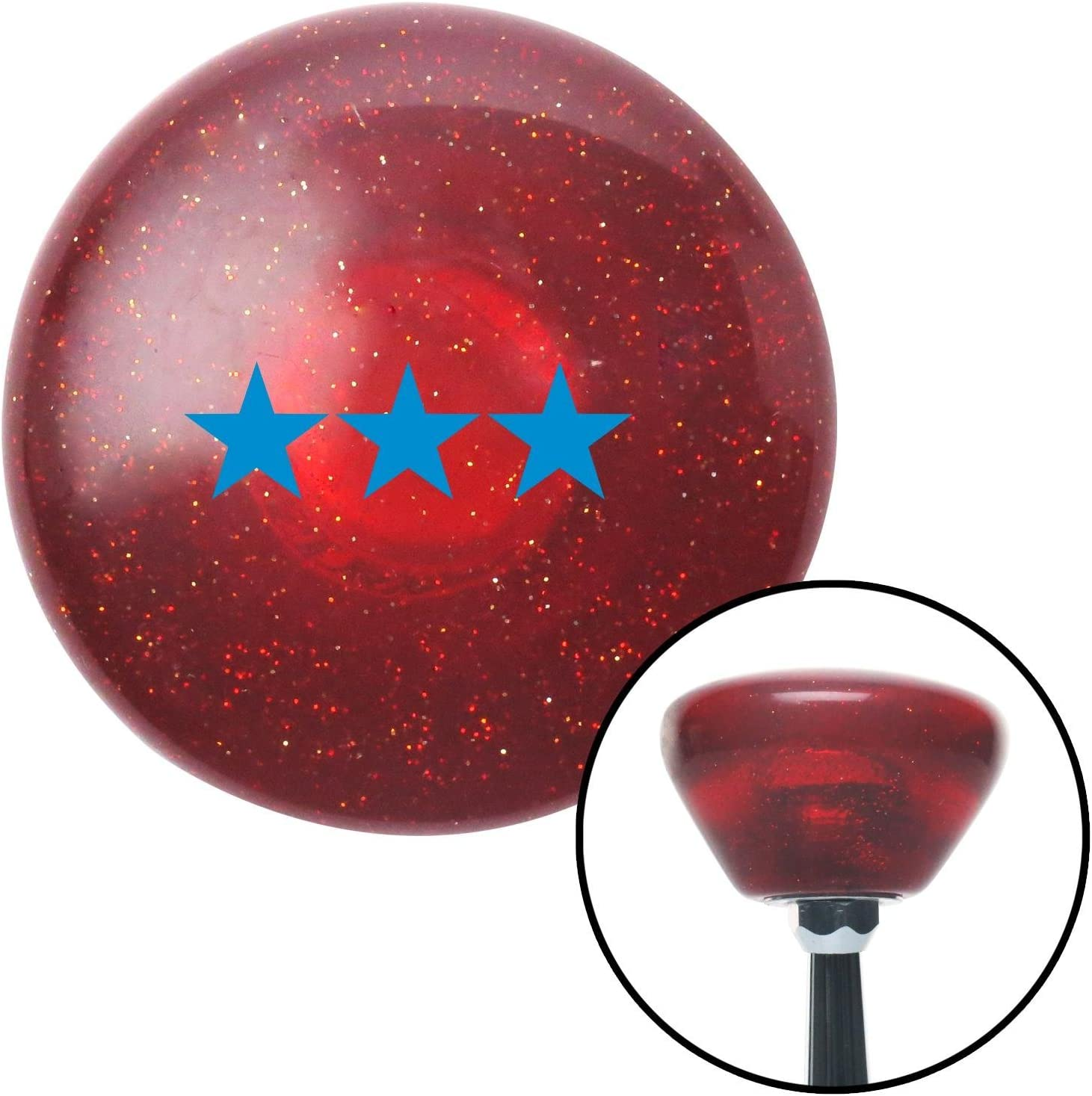 American Shifter 198916 Red Retro Metal Flake Shift Knob with M16 x 1.5 Insert (Blue Officer 09 - Vice Admiral)
