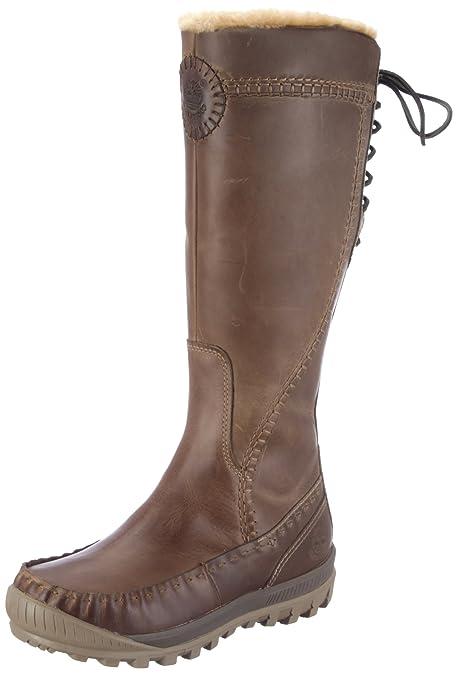 ddb79e1c Timberland Mount Holly - Botas de Cuero Impermeable de caña Alta para Mujer,  Color marrón, Talla 37: Amazon.es: Zapatos y complementos