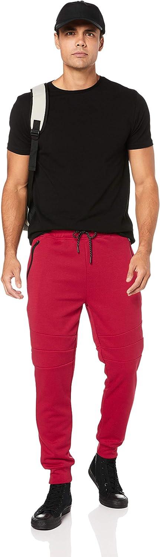 Southpole Mens Standard Tech Fleece Jogger Pants with Zipper Details