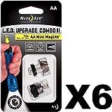 Nite Ize LED Upgrade Combo II - 30 Lumens, for AA Mini MagLite (6-Pack)