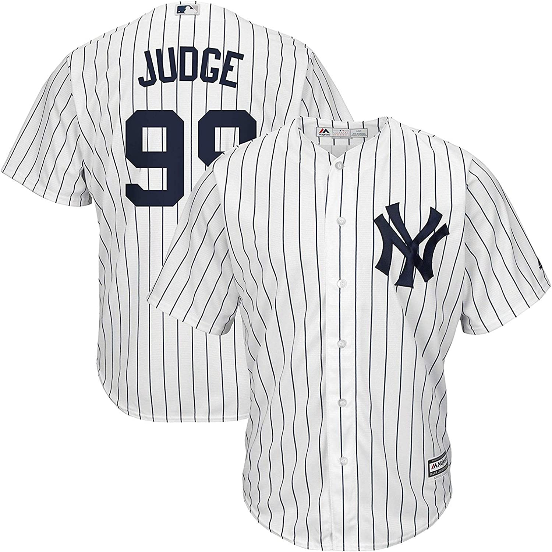 Aaron Judge New York Yankees Kids 4-7 White Home Cool Base Replica Jersey
