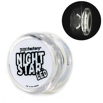 Yoyofactory Nightstar Led Yo Yo Blanc Illumine Yoyo Idéal Pour Les Débutants Ficelle Et Batteries Incluses Jeu Yoyo Moderne Freestyle Yoyoing