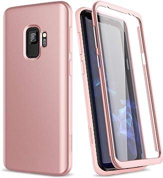 SURITCH Coque Samsung Galaxy S9 Silicone 360 Degrés Souple Integrale Antichoc Qui Protege Bien Avant et Arrière Etui Case Cover Housse Samsung Galaxy ...