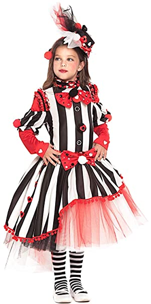 Costume di Carnevale da CIRCENSE Ragazza Vestito per Ragazza Bambina 7,10  Anni Travestimento Veneziano Halloween Cosplay Festa Party 28049 Taglia  7/S