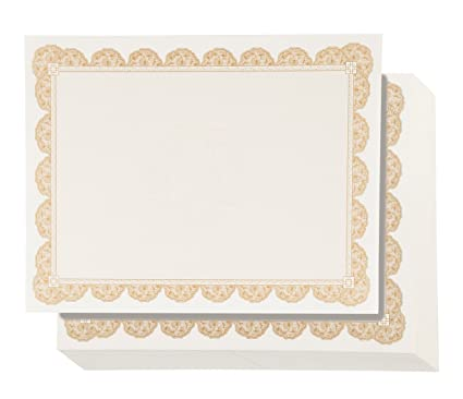 Amazon.com : 96 Pack Certificate Papers - Blank Award Paper, Diploma ...