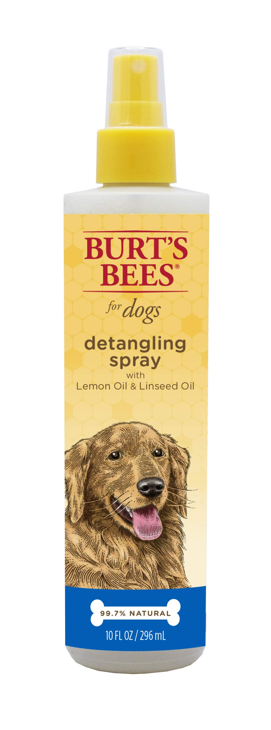 Burt's Bees for Dogs Natural Detangling Spray With Lemon and Linseed   Dog and Puppy Fur Detangler, 10 Ounces