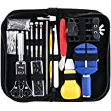 147 PCS Professional Watch Kit d'outils de réparation, Watch Back Case Holder ouvre Pin Link Remover Spring Bar Repair Kit d'outils avec étui de transport
