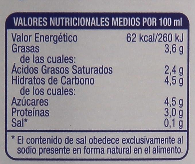 Kaiku Leche Esterilizada Entera - Paquete de 4 x 1500 ml ...