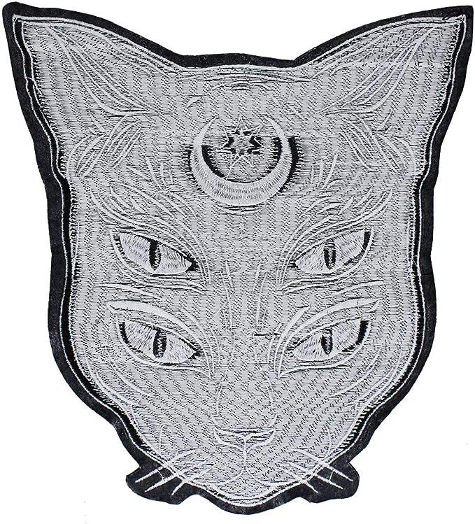 EMDOMO - Parches para Bordar con diseño de Gato, Color Negro ...