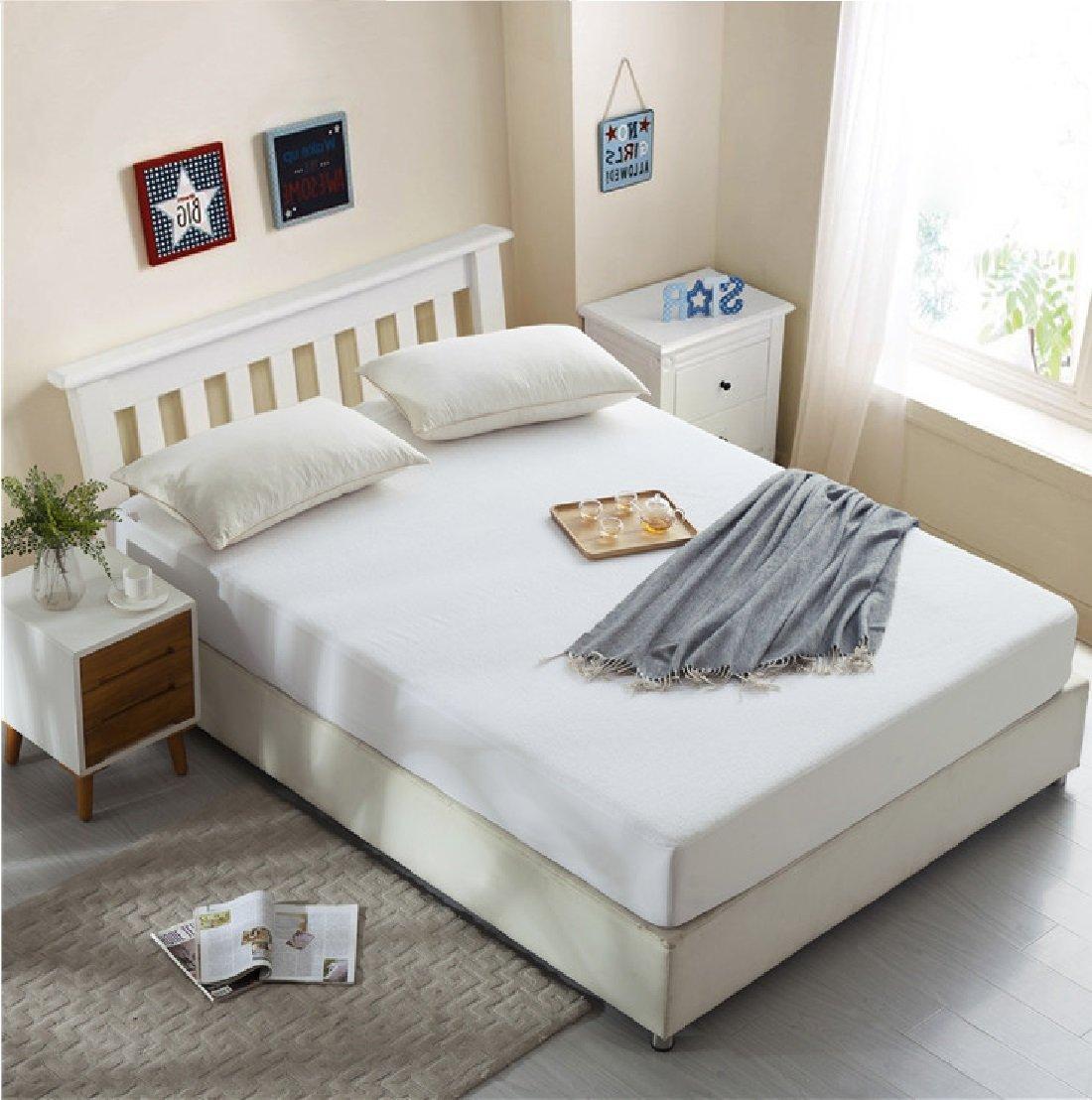 Dream CareTM Waterproof Dustproof Terry Cotton Mattress Protector for Single Bed - 80